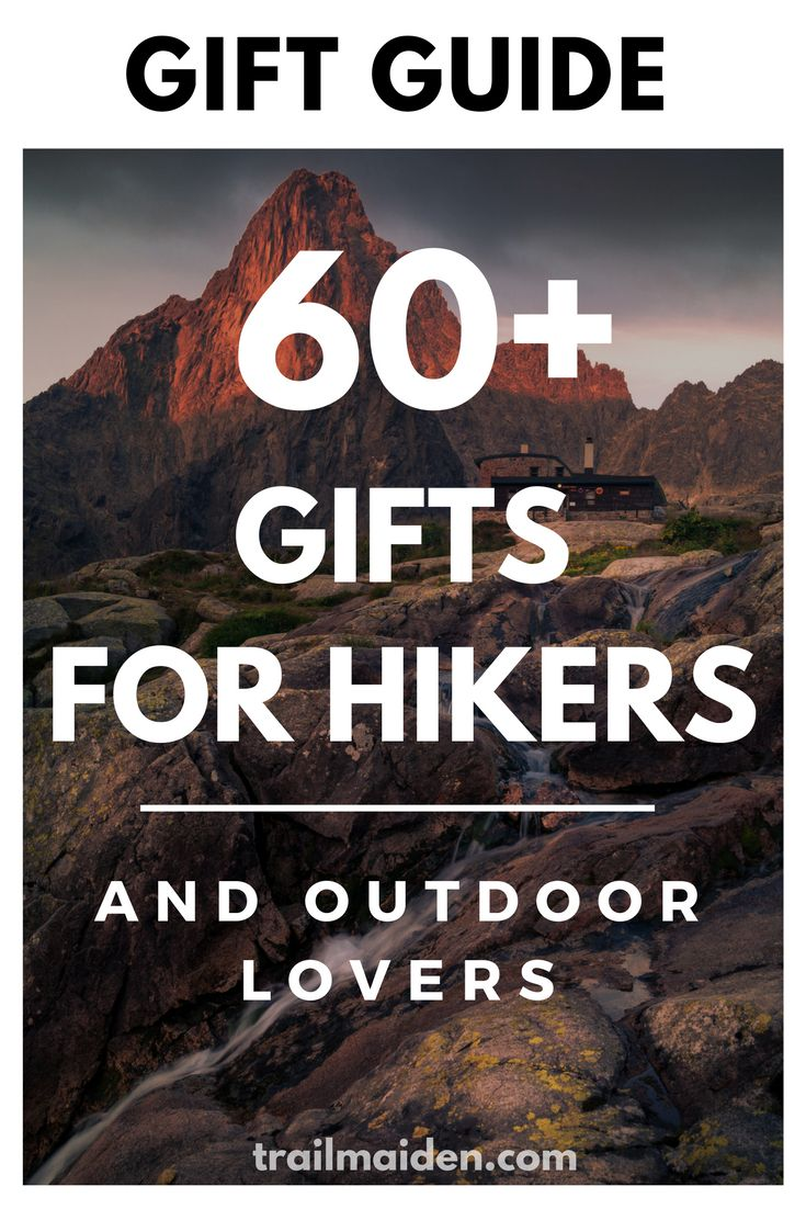 Ultimate outdoor gift guide with over 60 awesome gifts for hikers and backpackers! Use this simple list to and make your special hiker happy!