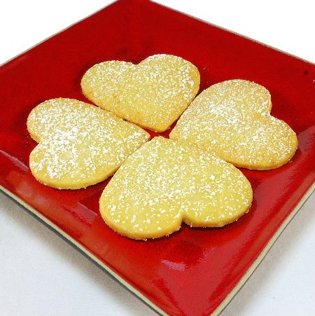 One Perfect Bite: Lemon Shortbread Heart Cookies