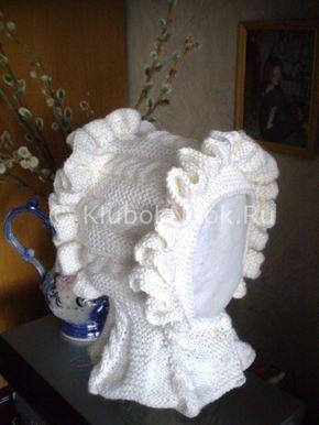 Детская шапочка с пелериной | Вязание для девочек | Вязание спицами и крючком. Схемы вязания.