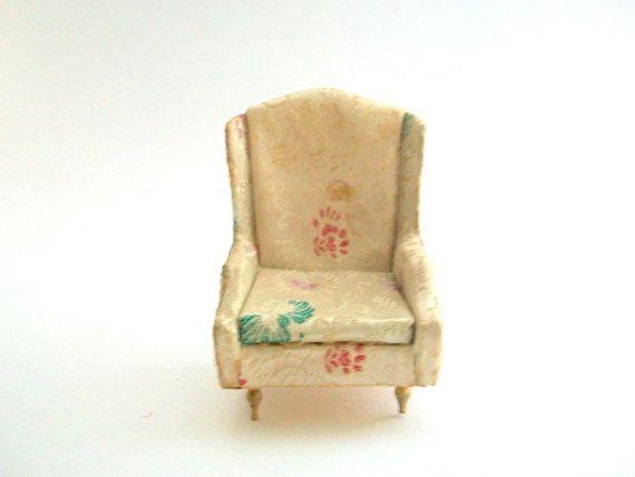 Good Petite Princess, Petite Princess Miniatures, Petite Princess Chair Wing  Back Chair Miniature Chair Dollhouse Chair, Floral Chair, 1:16 Scale