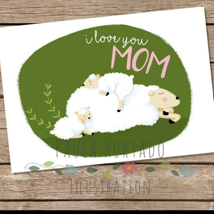 Nueva tarjeta de felicitación para el día de la madre. Mother's day card