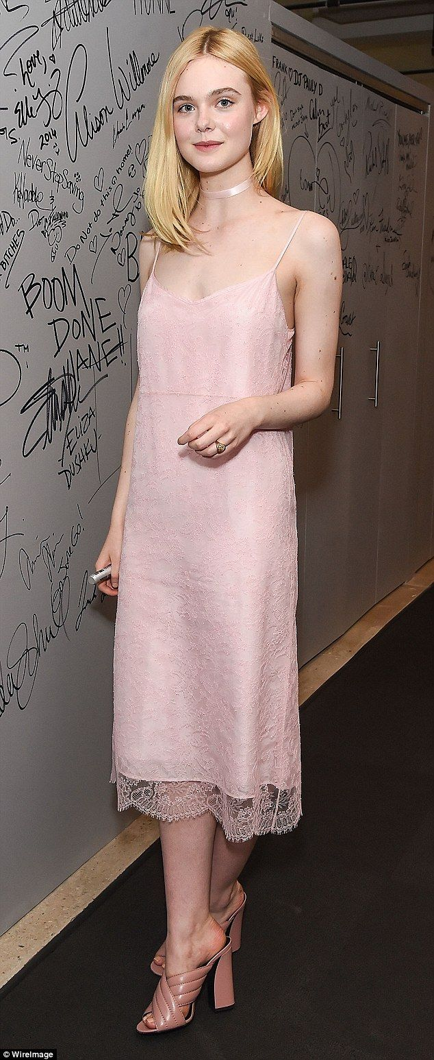 What a beauty:Elle Fanning looked flawless as she attended the AOL Build Speaker Series t...