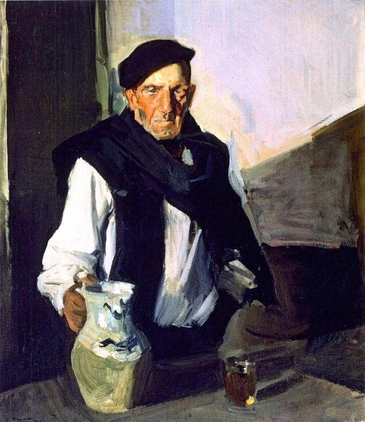 Joaquín Sorolla, El bebedor vasco, 1910. Óleo sobre lienzo, 116 x 110 cm, Museo de Málaga, Españ