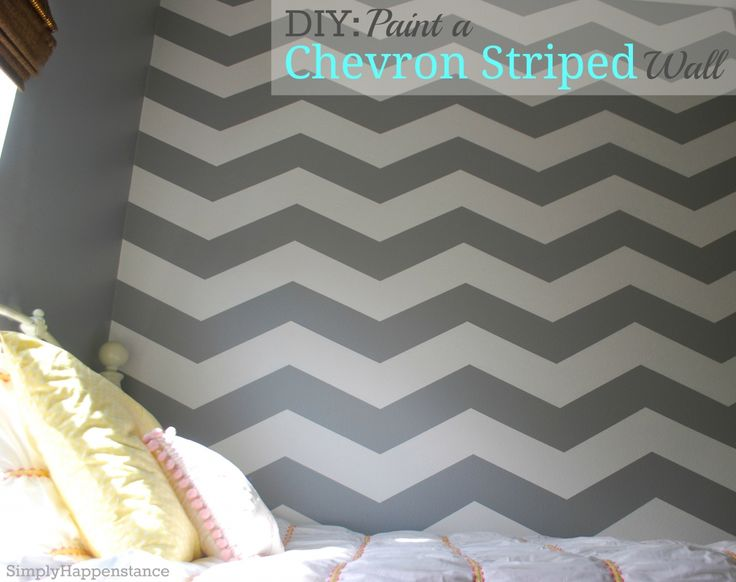 DIY: Paint a Chevron Striped Wall {via: Simply Happenstance}