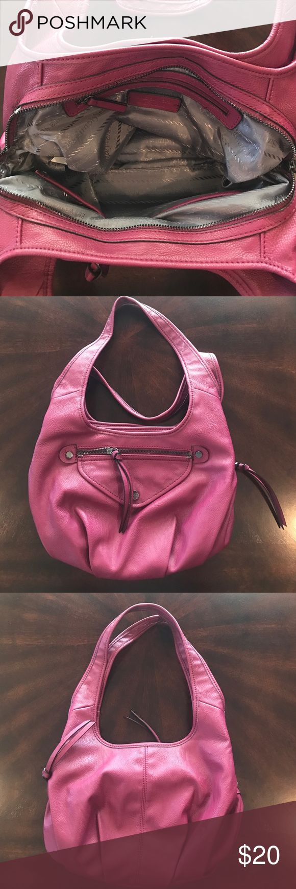 Simply Vera: Vera Wang purse VERY gently used Vera Wang plum colored purse with tassels from zippers. No stains, holes. All working zippers Simply Vera Vera Wang Bags Shoulder Bags
