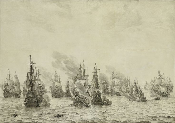 The Battle of Livorno (Leghorn), Willem van de Velde (I), c. 1659 - c. 1699