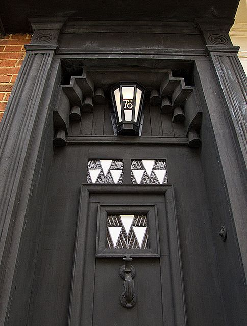 Front door by Charles Rennie Mackintosh, 78 Derngate, Northampton   by chrisjohnbeckett, via Flickr