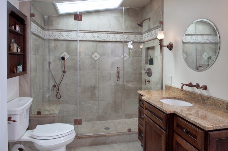 Farm Style Bathroom in Lambertville, NJ. Vintage design with contemporary touches.
