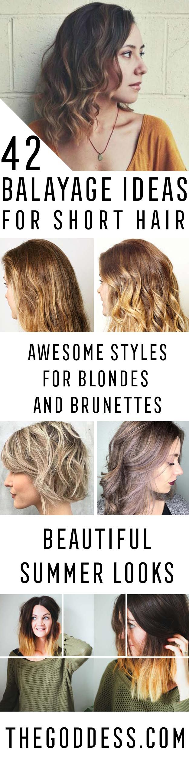Balayage Ideas for Short Hair - Tips, Tricks, And Ideas for Balayage Hairstyles You Can Do At Home And For Short And Very Short Hair. DIY Balayage Hair Styles That Cost Way Less. Try The Pixie Balayage Hairdo For Blonde Or Dark Brunette Hair. Use Caramel, Red, Brown, And Black Colors With Your Undercut And Balayage Haircut. Get Beautiful Looks With Purple, Grey, Honey, And Burgundy. Try An Ombre With Bangs For Your Medium Length Hair Or Your Super Short Hair…
