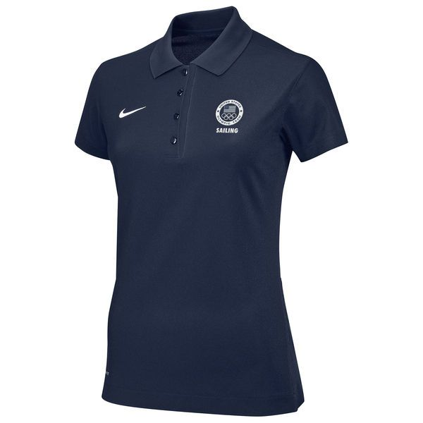 Team USA Nike Women's Sailing Sport Dedication Performance Polo - Navy - $51.99