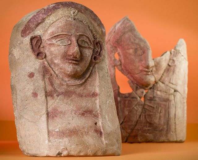 The reconstructed remains of two of four female heads, made out of ceramic and c. 2400 years ago, which were discovered at the ancient town of Porphyreon in modern-day Lebanon [Credit: Adam Olesiak/The Polish Centre of Mediterranean Archaeology Archive] Read more at https://archaeologynewsnetwork.blogspot.com/2017/05/ceramic-female-heads-discovered-in.html#F22ReXkmzbXyp6oh.99