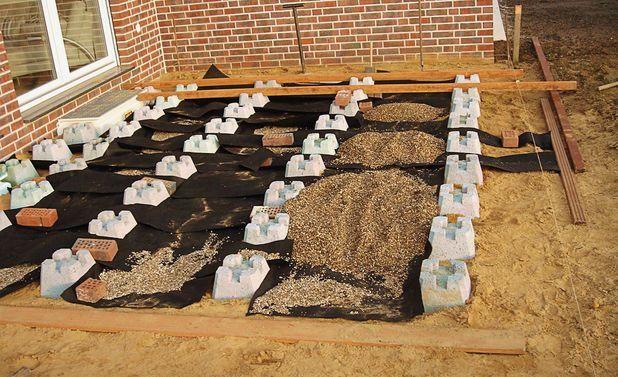 Fundamentsteine Terrasse fundamentsteine terrasse #deckconstruction | deck construction in