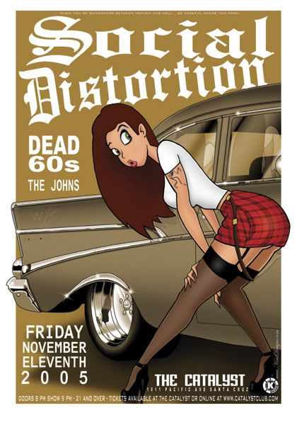 Concert Poster Design | Social Distortion with Dead 60s concert poster by Kent Designs