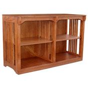 """48"""" x 30"""" x 18"""" Solid Oak Mission Spindle Bookcase - BCASMS483018C"""