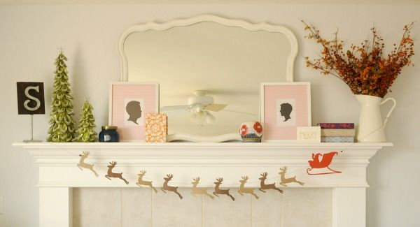 DIY Reindeer garland (and pretty mantel)