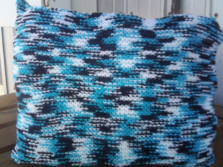 HANDKNITTED CUSHION by Bevshandmadecrafts on Etsy
