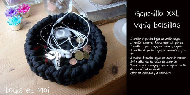 Vacía bolisllos en #GanchilloXXL #trapillo #CrochetXXL