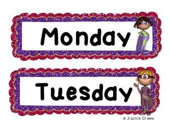Days of the Week /Super Heroes & Los Dias de la Semana Wor