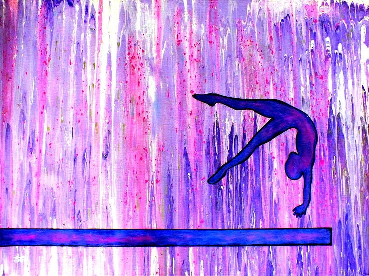 The Gymnast Painting  - The Gymnast Fine Art Print