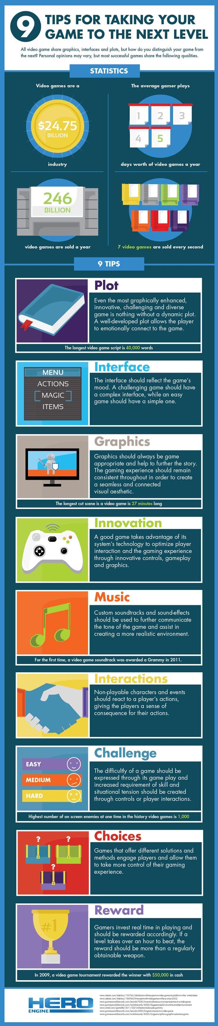 the 9 tips for better game development - Game Design Ideas