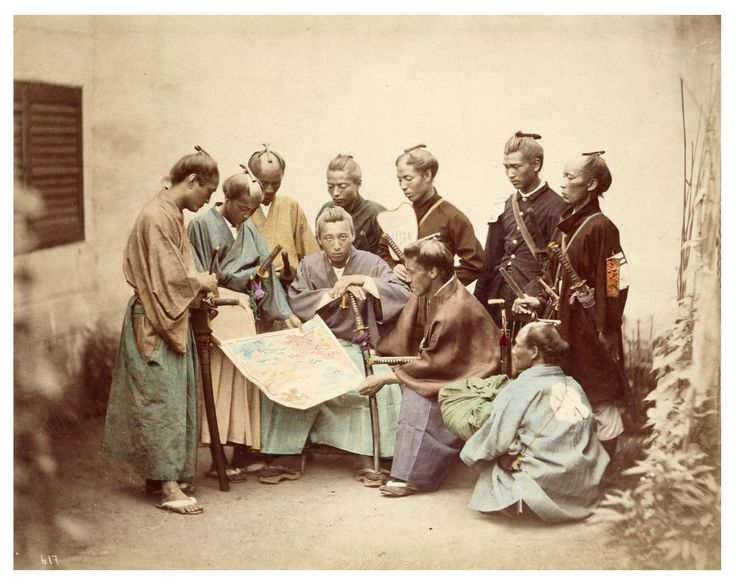 Colored photograph of samurais from the Boshin War era (1868-1869)Photos, Japan, The Real, Maps, Dragons, Samurai Warriors, Vintage Photographers, Boshin Wars, Felicity Beato