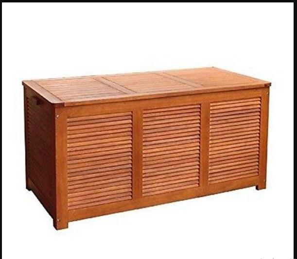 Pool Deck Box Storage Box Waterproof Patio Cushion Storage Bench Outdoor  #Merry