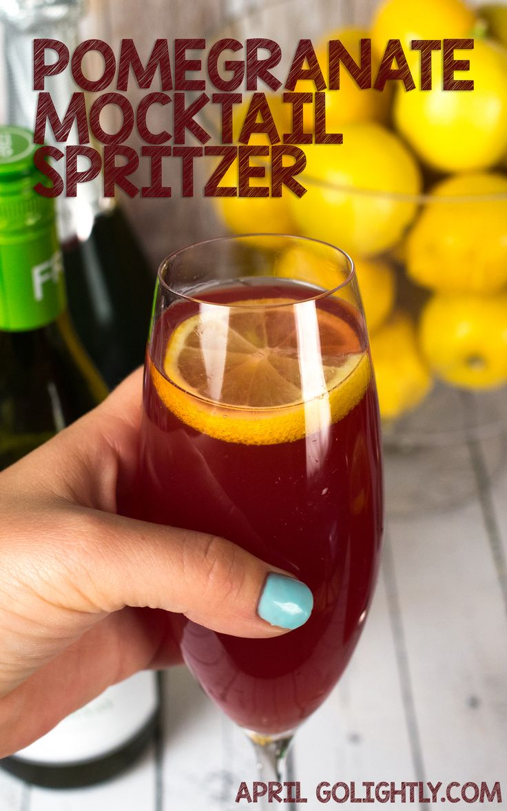 Pomegranate Mocktail Spritzer drink cocktail recipe- super yummy with pomegranate juice and soda with Alcohol-Removed Chardonnay  #SipSmarter [ad]