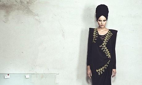 Huda N style ,shoulder pads abaya