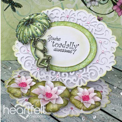 Heartfelt Creations aus USA EXCLUSIVE HEARTFELT aus den USA! Stempel Set: Water Lily