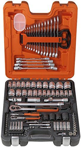 Bahco S106 S106 Socket Set 106-Piece 1/4 & 1/2-Inch Drive