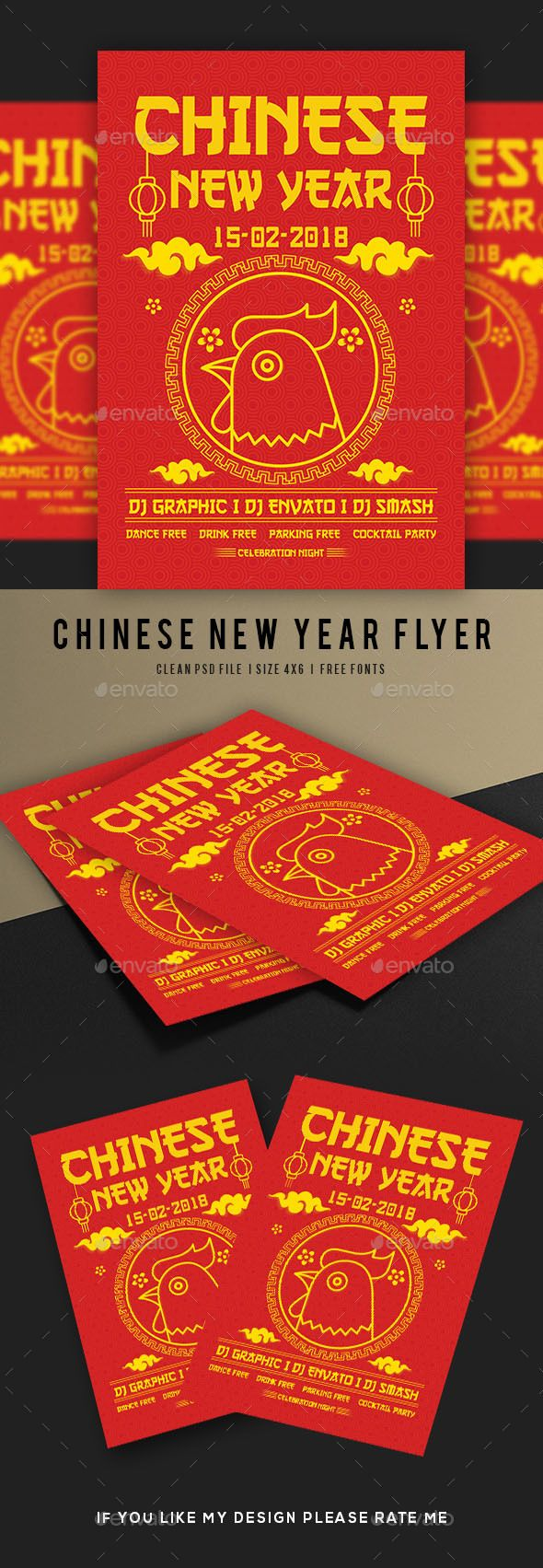 #Chinese #New #Year Flyer - Flyers Print Templates