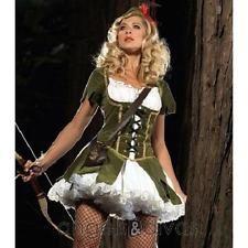 Ladies Robin Hood Peasant Costume Fancy Dress Prince Thieves Size 8-16