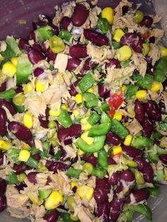 Kidneybohnen – Salat mit Thunfisch und Käse – Andrea Muhs