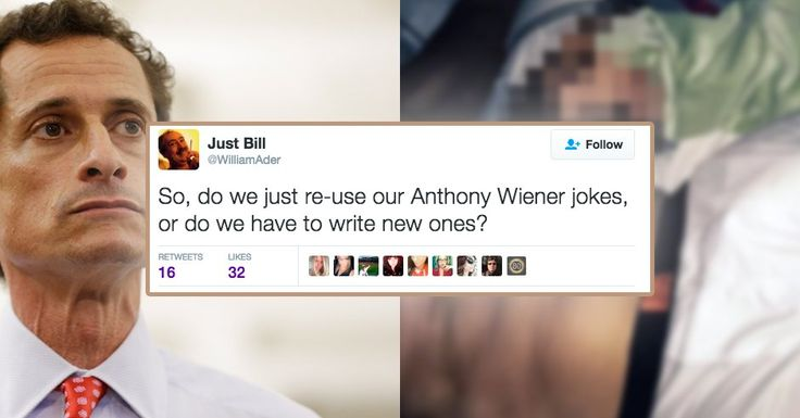 15 Hilarious Tweets About Anthony Weiner's Latest Leaked Pics