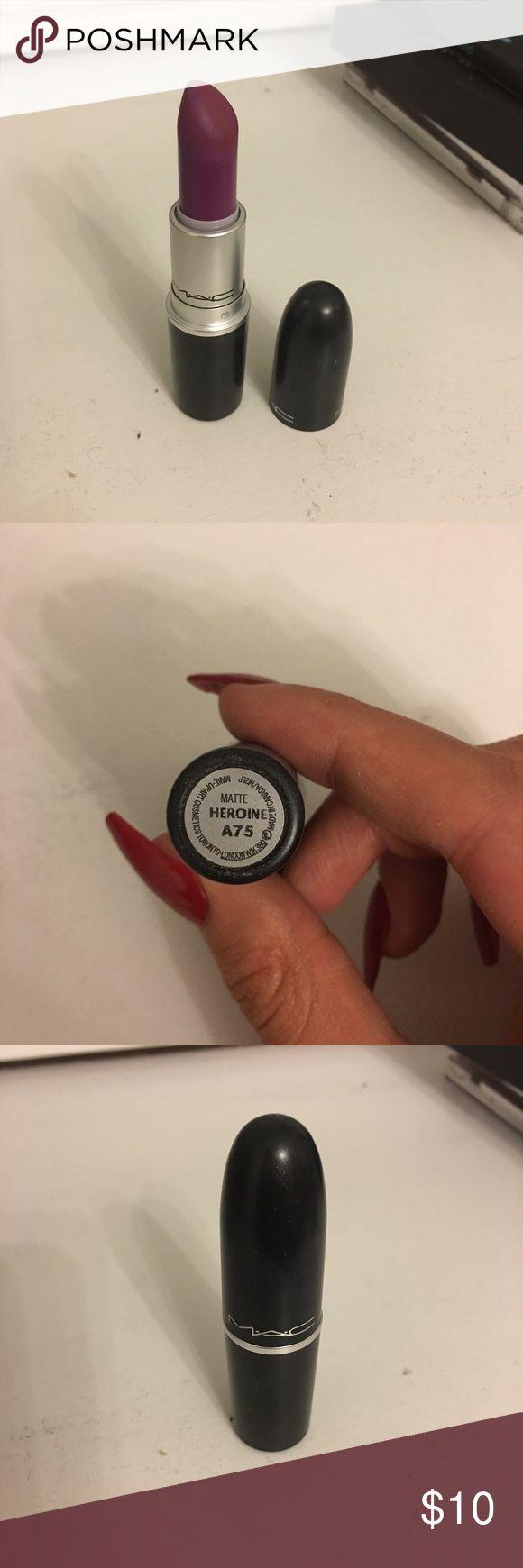 Mac heroine lipstick. Has a matte finish. Used less than five times! MAC Cosmetics Makeup Lipstick