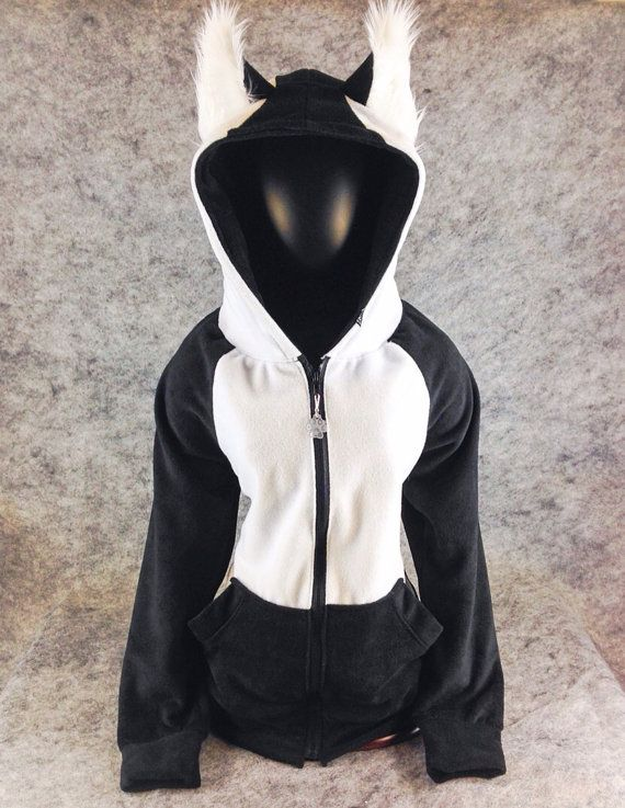 Siberische Husky malamute hoodie jas Poolwolf harige Kitty jas vacht kostuum kleding 6155