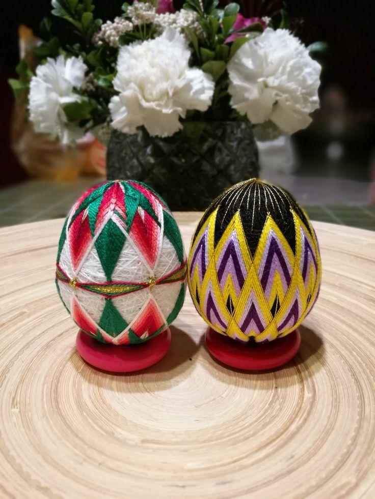 temari eggs #手鞠 #手鞠球 #手毬 #毛毬 #缘毬会