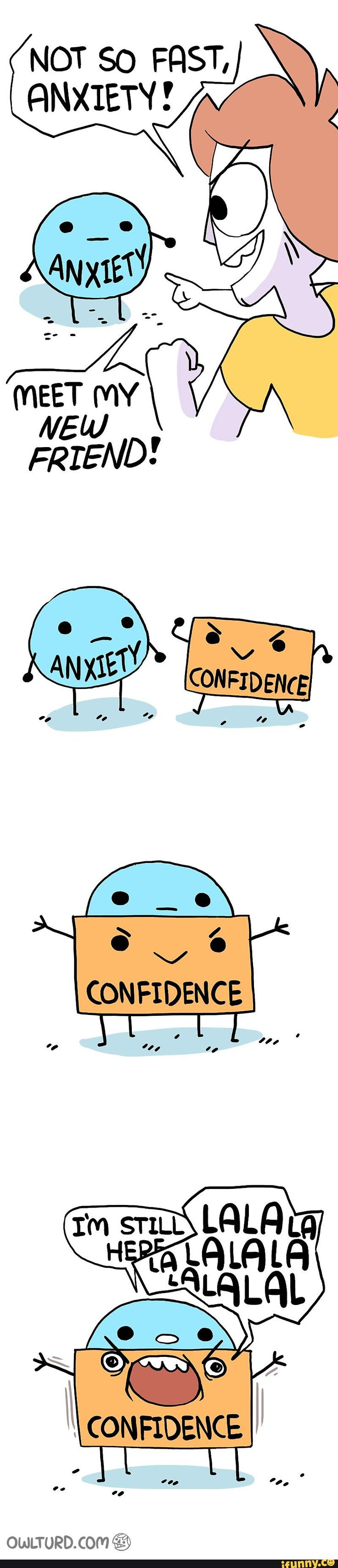 Anxiety, cover, with, confidence