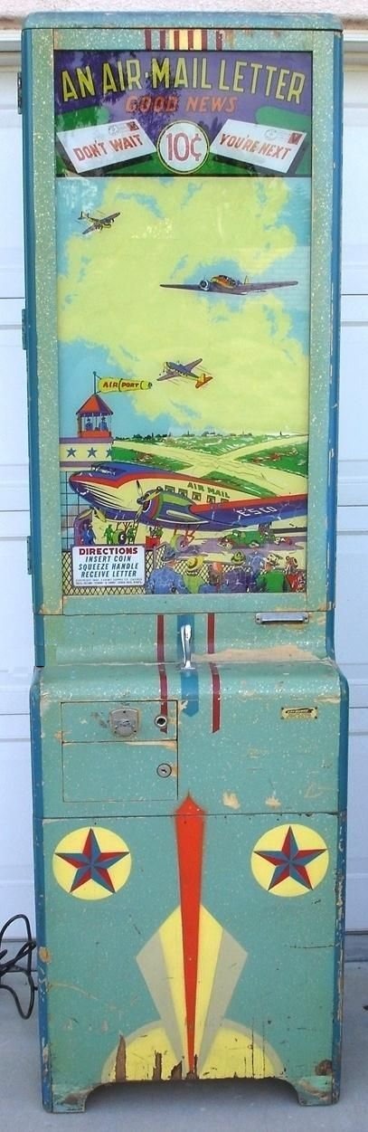 Exhibit Supply Air Mail Letter Air Drop 1944 coin operated arcade card vendor