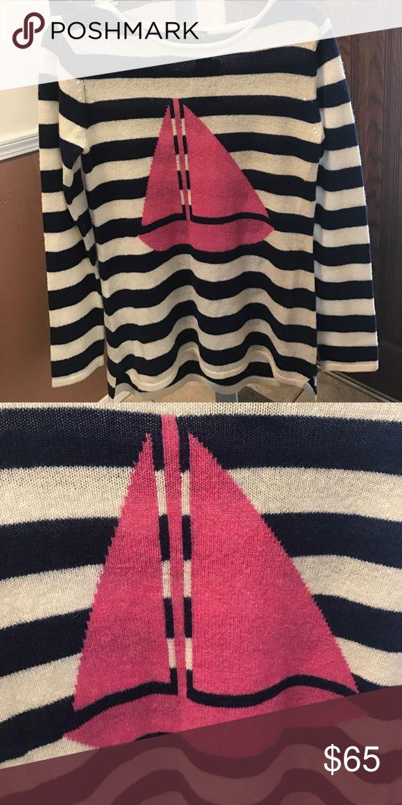 HANNAH ROSE Cashmere Sailboat Intarsia Sweater 100% cashmere Hannah Rose Sweaters Crew & Scoop Necks