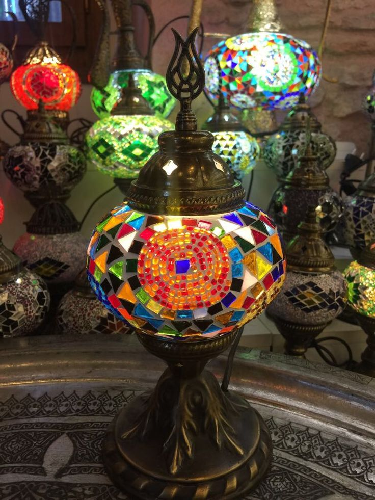 "SMALL MOSAIC TABLE LAMP, 25 cm (9.8"")"