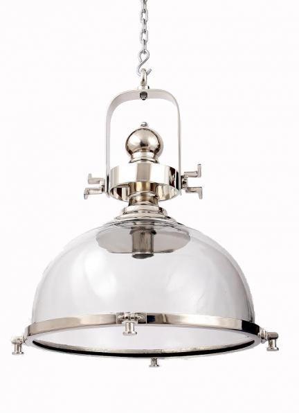 Lampa wisząca, niklowana, loft, industrialna (48022)