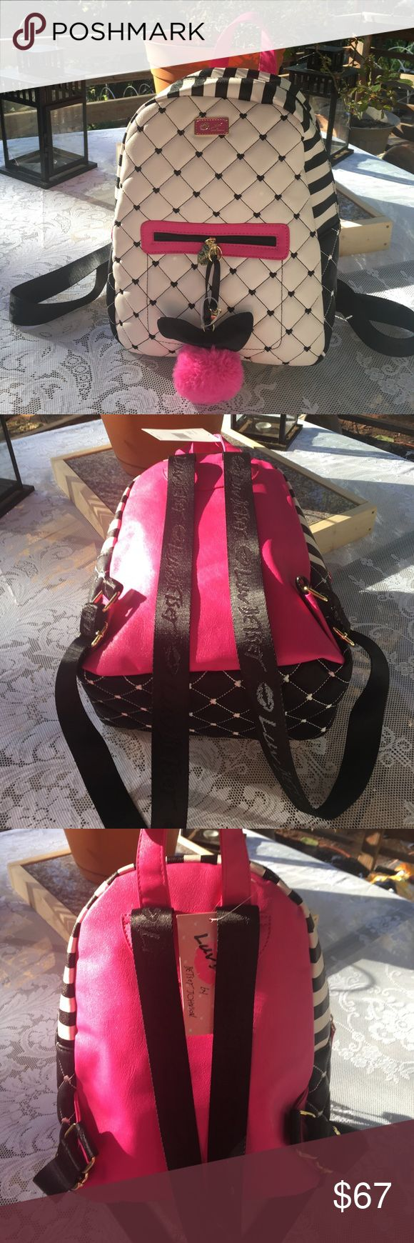 "New Betsy Johnson Backpack - not mini New adorable backpack.  Size is approx. 9 1/2"" length  by 12"" height by 4 1/2"" wide. Betsey Johnson Bags Backpacks"