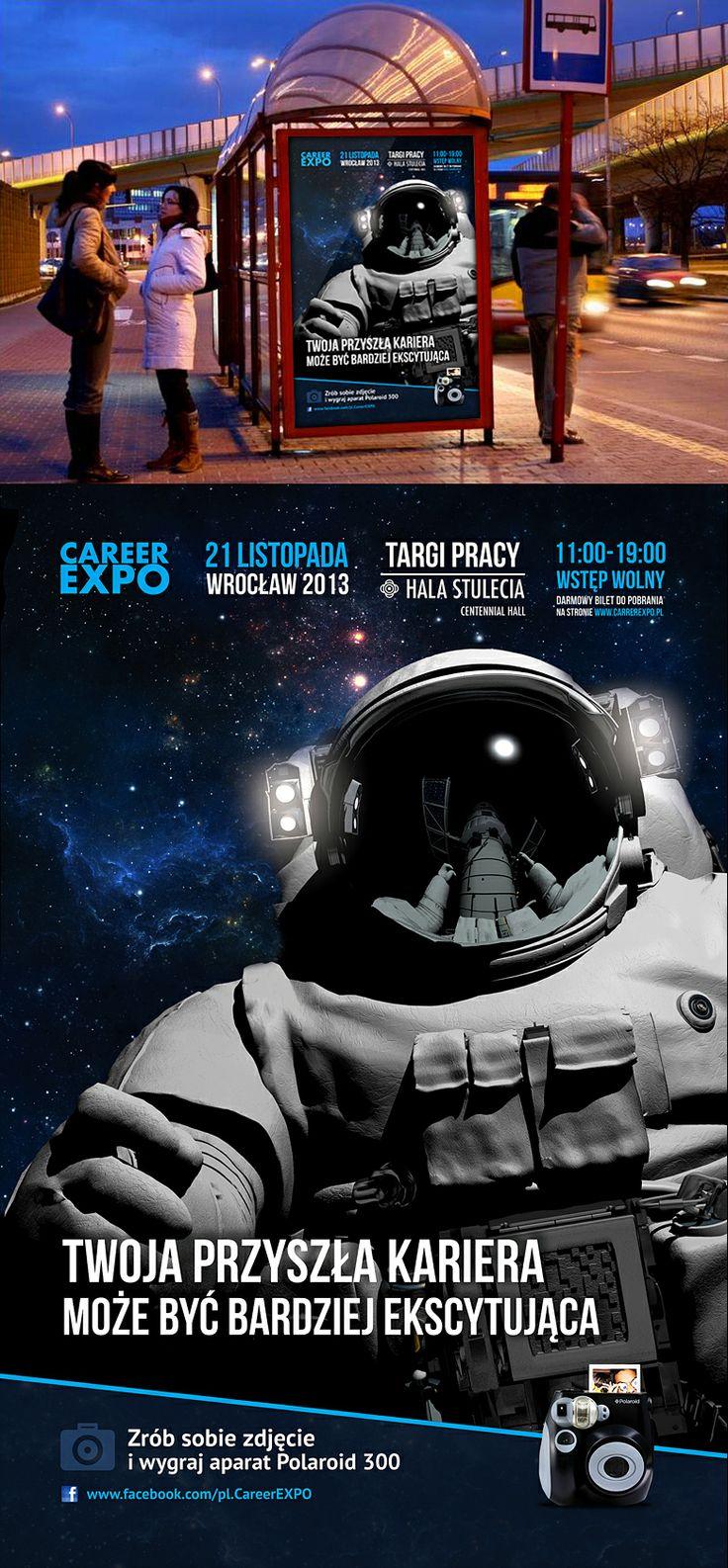 Preview kampanii ambientowej z astronautą