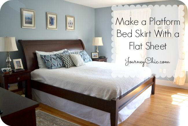 How To Make A Bed Skirt For A Platform Bed Bed Decor How To Make Bed