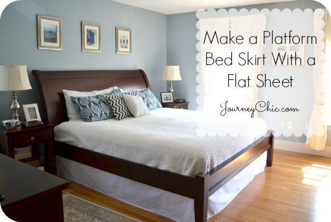 How To Make A Bed Skirt For A Platform Bed Diy Platform