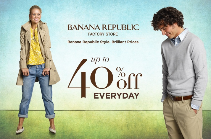 Banana Republic Factory Store, get prices every day
