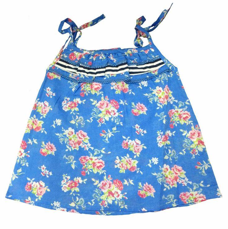 Linzi Rose Blue Bell Sun Top