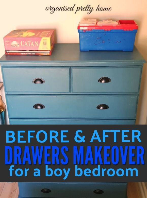 How To Easily Repaint A Chest Of Drawers Diy Dresser Makeover Bedroom Makeover Before After Boys Bedroom Furniture