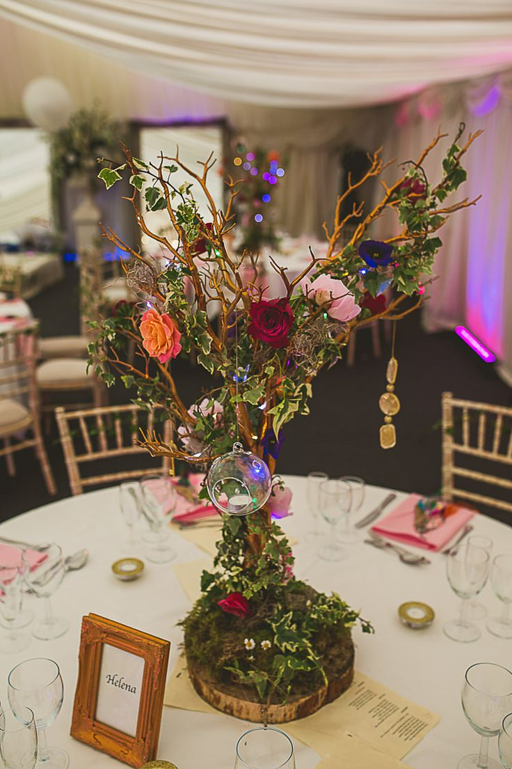 Branch Flowers Table Decor Centrepiece Tree Colourful Midsummer Night's Dream Party Wedding http://thespringles.com/